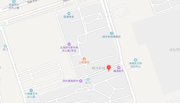 北海市金五星裝飾有限公司的地址在桐洋新城